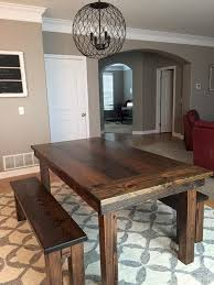 Rustic Bench Dining Table For Sale Rustic Farm Style Wood Dining Table Furniture This Is