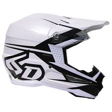 white motocross helmet 6d atr 1 s2 helmet matte white sixstar racing