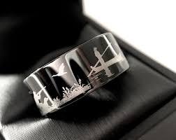 duck band wedding rings duck ring fisherman ring duck band wedding ring black