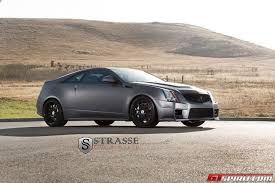 matte black cadillac cts v matte grey cadillac cts v with s10 strasse forged wheels gtspirit