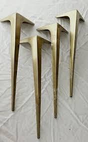 mid century coffee table legs mid century table legs stiletto brass vtg industrial salvage