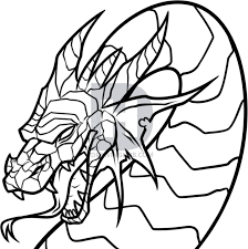 how to draw a dragon head step by step drawing guide by