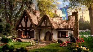 dwarf house but other scenes were filmed inside like the shots