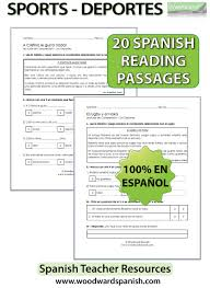 all worksheets spanish reading comprehension worksheets
