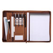 cuir de bureau leathario portfolio en cuir pu porte document portfolio cuir