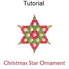beaded holiday christmas star ornament beading pattern tutorial