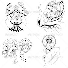 ganesha religious vector designs pack vector design large