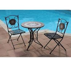 Tesco Bistro Chairs Buy Greena Mosaic Bistro Set From Our Garden Furniture Sets Range