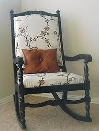 vintage cottage painted shabby chic rocking chair by tesshome