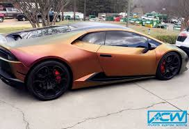 wrapped lamborghini satin car wraps atlanta custom wrapsatlanta custom wraps