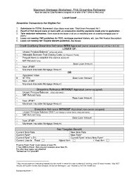 Fha Streamline Worksheet by Fha Streamline Tangible Benefit Worksheet To Fill