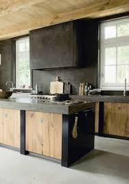cuisine bois brut armoire cuisine contemporain noir et bois naturel recherche