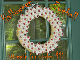 Halloween Eyeball Wreath by Growing To Four October 2014