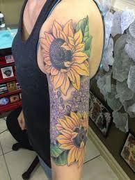 60 stunning sunflower sleeve tattoo design ideas