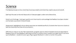 feedback and critique belmont teach