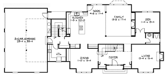 traditional house floor plans traditional colonial home plan 23309jd architectural designs