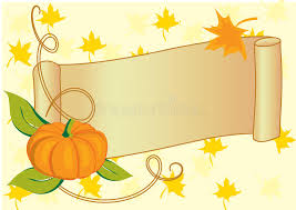autumnal banner with pumpkin for thanksgiving day royalty free