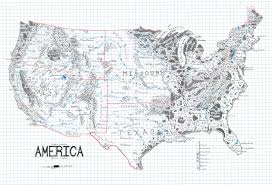 Black And White United States Map by A Map Of The United States Drawn In The Style Of Lord Of The Rings