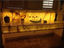 Bathroom Vanity 48 X 18 Backlit Onyx Bathroom Vanity Tops U0026 Sinks Onyx Marble Crafts