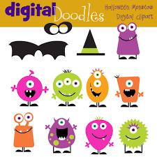 halloween monsters halloween monsters digital clip art