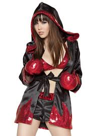 Womens Boxer Costumes Halloween Boxer Costume Flaming Boxer Fighter Costume Halloween