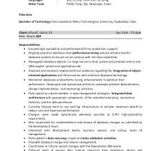 Oracle Dba Resume Sample by Fetching Oracle Dba Resume Interesting Resume Cv Cover Letter