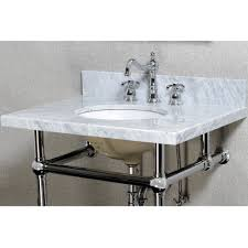 carrara marble console sink kingston brass kvpb30mb1 templeton polished chrome console tables