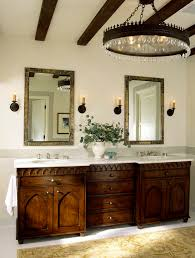 Chandelier Bathroom Lighting Gothic Chandelier Bathroom Mediterranean With Accent Tile Arched