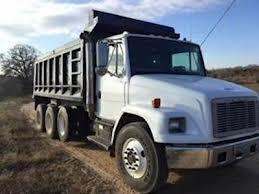 freightliner dump truck 2003 freightliner fl80 tri axle heavy duty dump truck c7 engine 7