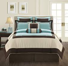 Teal Bed Set Bedroom Teal And Gray Bedding Brown Comforter Dark Photo With