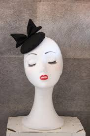 mini black hat mini race hat wedding hat gothic hat black bow