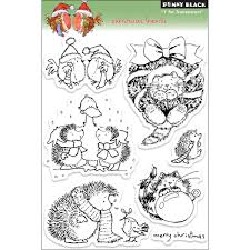 penny black clear stamps 5 x 7 5ins sheet christmas friends