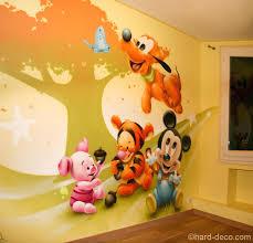 fresque murale chambre bébé fresque murale chambre fille la bande a mickey peinture murale