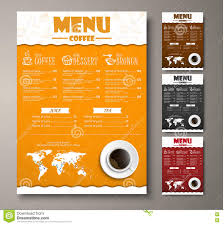 design a menu for the cafe shops or coffee shops with hand draw