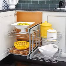 blind corner kitchen cabinet inserts blind corner cabinet wire pullout organizer with soft slides