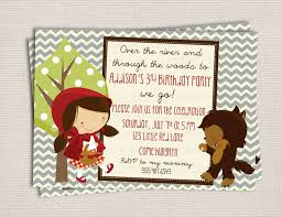 adorable red riding hood story book birthday party
