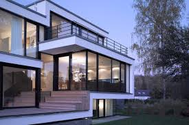 glass walls glass walls patio doors house zochental in aalen germany by