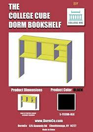 amazon com the college cube desk bookshelf beech color