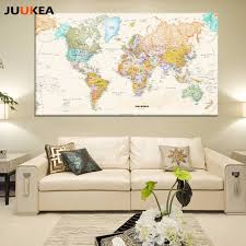 Framed World Map by Online Buy Wholesale Framed Map From China Framed Map Wholesalers