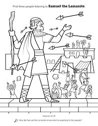 Samuel The Lamanite Samuel Coloring Pages