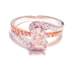 engagement rings sale 1 40ct fancy pink diamond engagement ring cushion