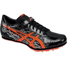asics 8896 mens long jump pro black track spikes athletic cleats