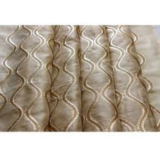 sequins scallop stitch embroidery sheer curtain fabric panels