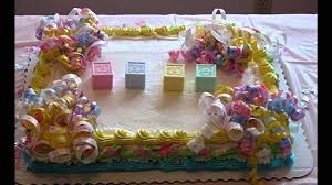 simple baby shower cake decorating ideas youtube
