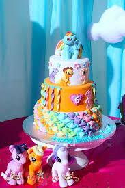 my pony birthday cake birthday cake girl my pony ponies fondant figurines pixy