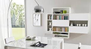 wall mounted bookcase contemporary lacquered wood oak z102