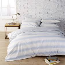 vantona easy living sheringham stripe blue duvet cover set dove mill