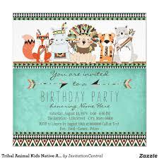 Indian Baby Shower Invitation Cards Tribal Animal Kids Native American Birthday Party Card Birthdays