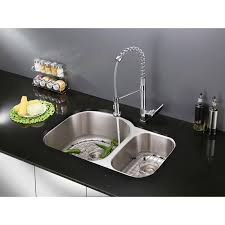 ruvati rvf1216ch commercial style pullout spray kitchen faucet