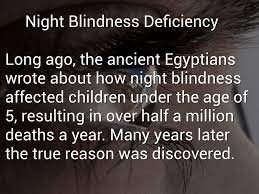 Night Blindness Deficiency Deficiency Diseases By Dragan Wilms